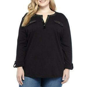 Kim Rogers Women's Blouse Plus Size 1X 2X 3X